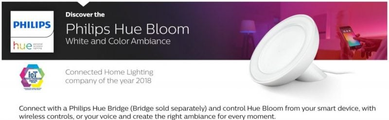 Philips Hue Bloom White and Color Ambiance