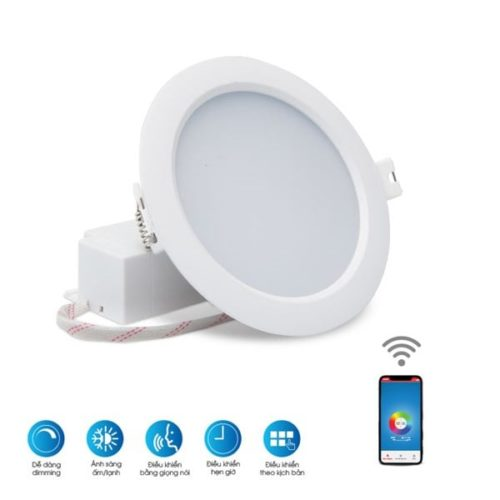 LED downlight 90/7W DIM+CCT+WIFI rạng đông